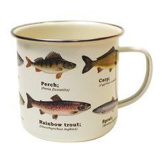 Gifts For Fishermen | Fish Enamel Mug | Find Me A Gift