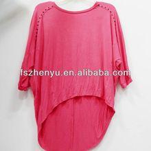 2013 caliente de venta para adultos vivos de color rosa camisas de manga larga para la mujer