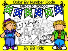 Use the numbers to color the pictures. For Kindergarten and Pre-K.By BB Kidz