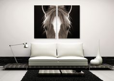 THE HORSE! LOVE THE HORSE & HOW ITS SO SYMETRICAL for the room! Art Addiction. Showroom: CandD 1F #hpmkt