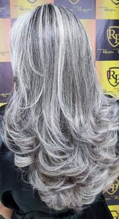 The beauty of age and grace. Grey Hair Wig, Long Gray Hair, Silver Grey Hair, Lace Hair, White Hair, Grey Hair Don't Care, Emo Hair, Grey Hair Inspiration, Gray Hair Highlights