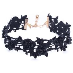 Vanessa Mooney Women's Lovetta Choker - Black ($20) ❤ liked on Polyvore featuring jewelry, necklaces, accessories, choker, joias, black, short necklaces, beading necklaces, beading jewelry and beads jewellery