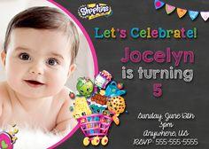 Chalkboard Shopkins Birthday Invitations - partyexpressinvitations