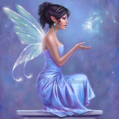Fairy Art Print Opalite 5x7 by twosilverstars on Etsy, $10.00