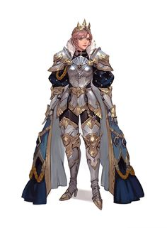 Princess Knight by Yeajin Heo Female Character Design, Character Design References, Character Concept, Character Art, Female Armor, Female Knight, Wolf Knight, Armadura Medieval, Inspiration Drawing