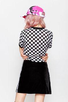 VELVET KITTEN SKIRT    SHOP HERE: https://www.goodbyebread.com/collections/new/products/velvet-kitten-skirt #goodbyebread #lookbook #photoshoot #omighty #velvet #kitten #sikrt #sexy #sporty #spice #mini #double #stripes #cute #stretchy #spandex #blend #interest #ringer #tee #tshirt #baby #girl #camo #dad #cap #pink #checkered #hair #badass #girl #mood