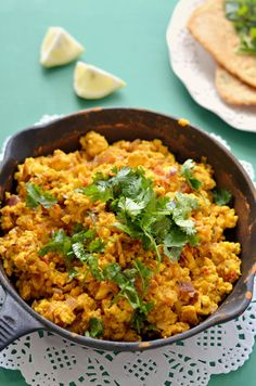 Paneer bhruji- Indian scrambled cottage cheese stir-fry with onions, tomatoes and exotic spices