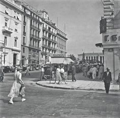 Stadiou & Korai str., (Athens) in the 50's