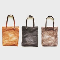 Bobby Bags! Leather handmade bags made in Holland  Shopping totes Dutch design Lovely leather Available at www.Barouffe.com