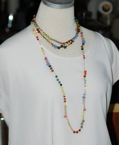 Vintage Inspired Hand crafted Jewellery Medium Length Pearl Crystal Necklace Quartz Crystal