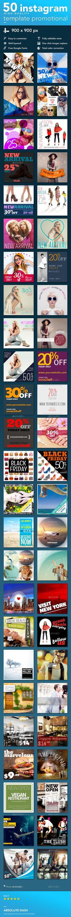 Instagram Banner Design Template Promotional - Social Media Web Template PSD. Download here: http://graphicriver.net/item/instagram-template-promotional/16539643?ref=yinkira