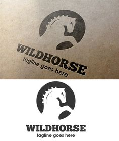 Wild Horse Logo by It's a Small World on @creativemarket #logotype #logo #design