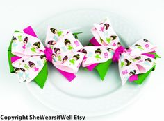 Pinwheel Hair Bows for GirlsBoutique Hair Bows by SheWearsitWell, $9.50  http://www.etsy.com/shop/SheWearsitWell?ref=si_shop