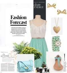 """""""Springtime- White and Turquoise"""" by cmarissa9 on Polyvore"""