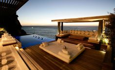 Poolside terraces
