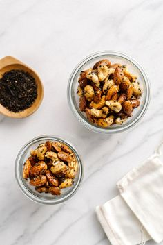 Tea Roasted Nuts {Sweet & Spicy} by Faring Well // #vegan #recipe