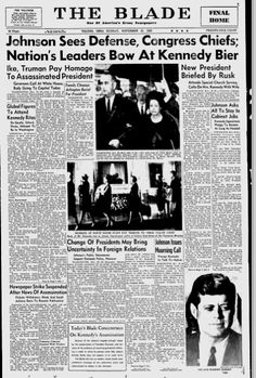 23 Front Pages From 1963 Covering The Day President Kennedy Was Assassinated
