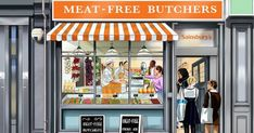 Sainsbury's is launching a Meat-Free Butchers popup, just in time for World Meat Free Week. The three-day popup will at first glance look no different than a traditional meat butchers. Butcher Store, Meat Butcher, Local Butcher, Food Counter, Bethnal Green, Vegan News, Food Club, Thoughts