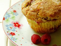Muffin ricotta e lamponi