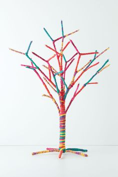 Rainbow Rope Small Tree - anthropologie.com......then decorate.....