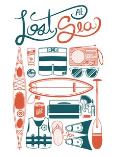 """Summer's on my mind """"Lost At Sea"""".  Print available on Society6."""
