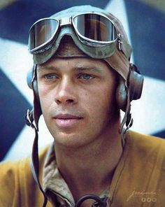 A lost Marine Corps pilot from VMF-214. The Black Sheep Squadron.