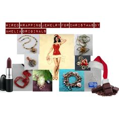"""""""Wired Wrapped Jewelry for Christmas by AMELIA ORIGINALS"""" by andreadesigns1 on Polyvore"""