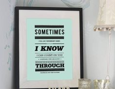 Brighten up your room with this fabulously trendy 'Florence and the machine' typography print taken from the beautiful song 'You've got the love'.