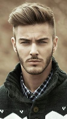 Another Modern Pompadour example from the front.