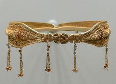 200-100 B.C., Alexandria, Egypt. Made from gold this diadem was likely worn by a noblewoman of the time.