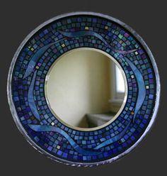 Kickin Glass Mosaics Glass Mosaics by Artist Anna Johanson Iridescent Blues