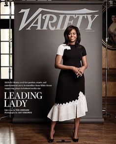 "#FirstLady Of The United States 🇺🇸#MichelleObama is a lady in black and white on the cover of #Variety ""(Michelle Obama) graces the cover of Variety (Tuesday),"" Variety Editor-in-Chief Claudia Eller said in a sneak peek of the cover Monday August 22, 2016. ""She's brilliant, witty, personable and a pop culture icon."" The Variety cover story and magazine will be out Tuesday #August23rd #2016 #Varietymagazine #Variety #MagazineCover #Magazine"