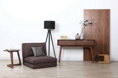 Chauffeuse convertible design gris SALLY Decor, Furniture, Side Table, Table, Home Decor, Office Desk, Desk