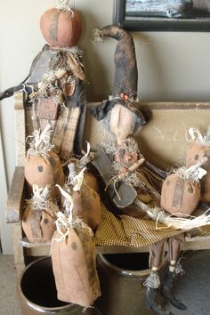 Primitive Autumn Dolls...