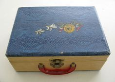 Vintage Child Size Travel Case with Red Handle