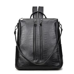New Fashion PU Leather Backpacks For Teenage Girls 2018 Woman Backpack Designers Sac A Dos Kpop Back Pack Women Brand Bagpack