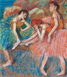 Edgar Degas Danseuses (Danseuses au repos), vers 1898 pastel sur cinq feuilles de papier réunies, 83 x 72 cm