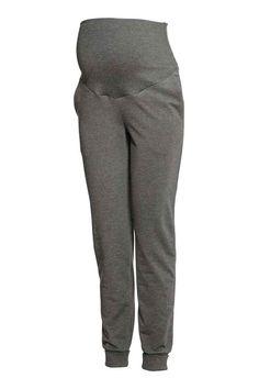 MAMA Kalhoty jogger - Tmavě šedý melír - ŽENY   H&M CZ