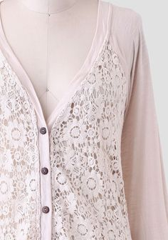 Nature's Reflection Lace Cardigan