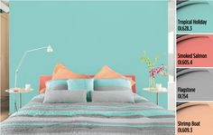 Dynamic & Modern Paint Colors by Olympic® Paints Pairing a variety of colors together is a quick and easy way to tell a story. For example, a mix of hues commonly seen in tropical regions can create an upbeat and happy ambiance.