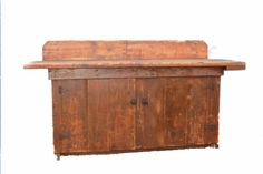 Antique Primitive Workbench Rustic Decor by RecycledSalvage