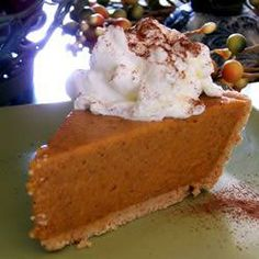 """No Bake Pumpkin Pie I   """"I have used this recipe for quite a few years and everyone loves it. It is simple to make, which I happen to love."""""""