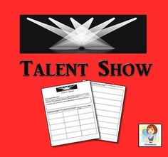Talent Show Drama Class, Teacher Created Resources, Middle School English, School Levels, Cooperative Learning, Talent Show, Stand Up Comedy, Project Based Learning, Activity Sheets