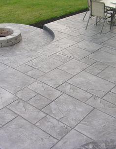 Stamped concrete patio ideas to bring your patio backyard or frontyard more welcoming space - HGNV.C Stamped concrete patio ideas to bring your patio backyard or frontyard more welcoming space - HGNV. Small Backyard Design, Small Backyard Patio, Backyard Patio Designs, Backyard Landscaping, Patio Ideas, Backyard Ideas, Backyard Pools, Outdoor Patio Flooring Ideas, Garden Design