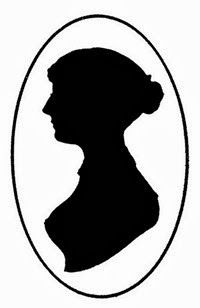Silhouette portrait of Jane Austen.