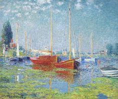 Claud Monet. Argenteuil. Yachts, 1875 01