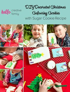 DIY Decorated Christmas Colouring Cookies with Sugar Cookie Recipe | www.hellocreativefamily.com