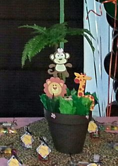 Jungle Theme Centerpiece by WrightCreationsbyJ on Etsy, $19.75