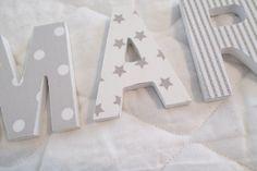 Letras de madera - LETRAS DE MADERA - hecho a mano por KA-Decoracion en DaWanda