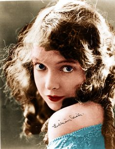 Lillian Gish lived to be 99 years old and wealthy even though her film stardom ended with the silent era. Described as sweet and virginal, her films continue to be praised today, not only the blockbusters such as THE BIRTH OF A NATION (1915), but smaller films as well such as the rural romance, TRUE HEART SUSIE (1919). Here is Gish in an uncharacteristic pose, circa 1919